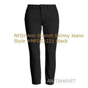 NYDJ Ami Stretch Skinny Jeans MFOZ2221 Black